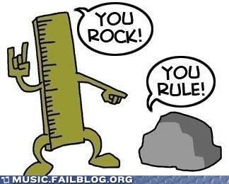lame pun puns rock rule ruler - 6453255168