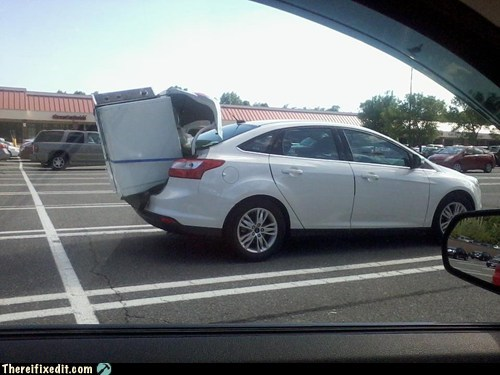 a for effort,car fail,Car Trunk,trunk,washing machine