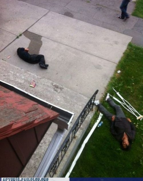 alcohol crutch crutches driveway passed out - 6453351424