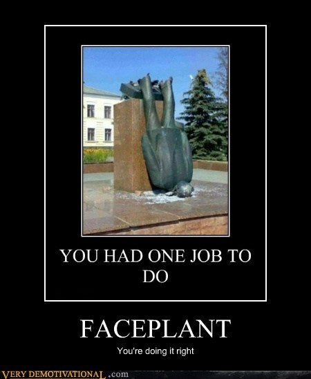 faceplant hilarious ouch statue - 6453380352