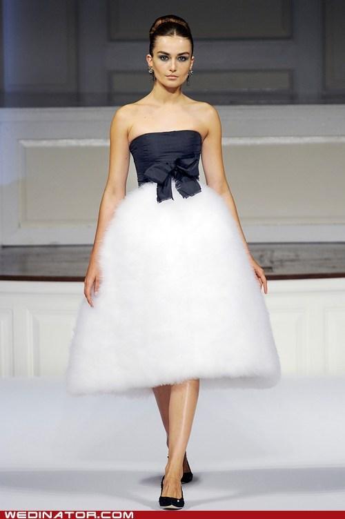 bridal couture fashion funny wedding photos just pretty runway wedding dress - 6453394944