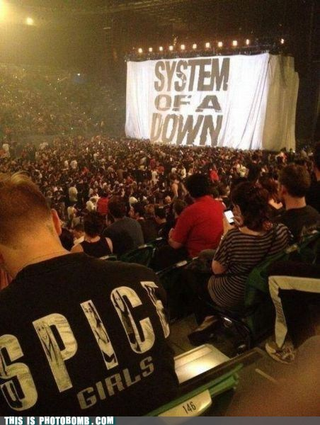 awesome,best of week,concert,shirt,spice girls,system of a down