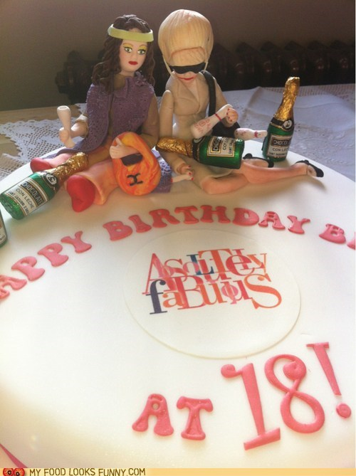 18,abfab,absolutely fabulous,birthday,cake