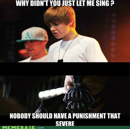 bane justin bieber punishment Super-Lols - 6453552384