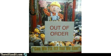 bob the builder,out of order