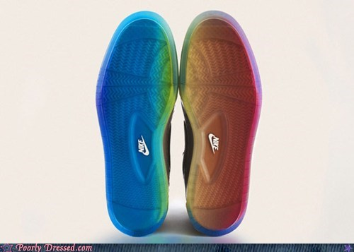 dressed to win rainbow shoes sneakers