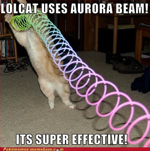 aurora beam,best of week,lol,lolcat,meme,Memes,super effective