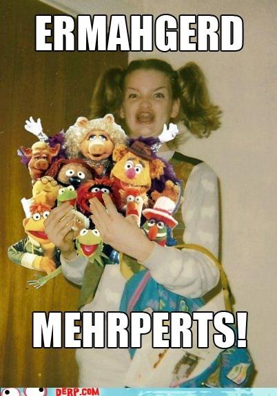 derp,Ermahgerd,Jim Hensen,muppets,TV