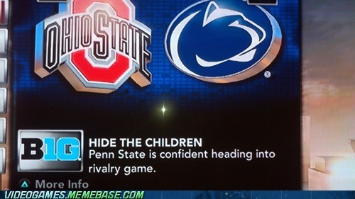 children football ncaa penn state penn state scandal rivalry game the internets