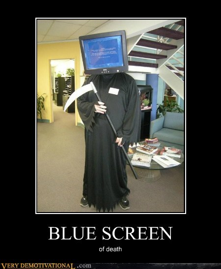 blue screen,costume,Death,Pure Awesome