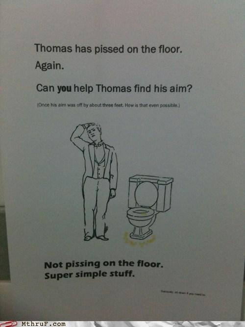 bathroom peeing on the floor thomas toilet - 6453901312