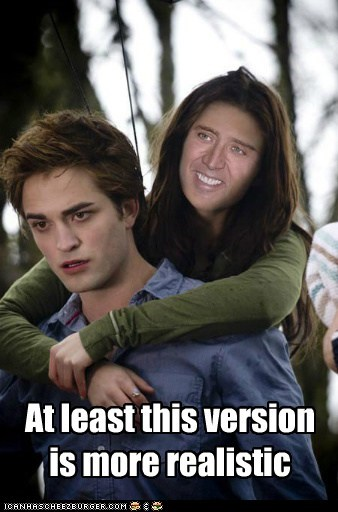 actor celeb funny nicolas cage robert pattinson shoop twilight - 6453915904