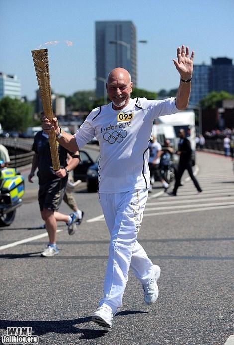 celeb London Olympics olympics patrick stewart torch - 6454067712