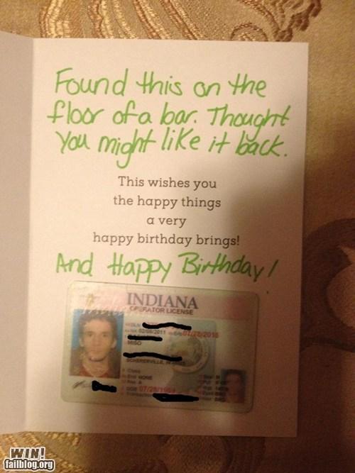 card happy birthday id lost Random Acts Of Kindness - 6454079232