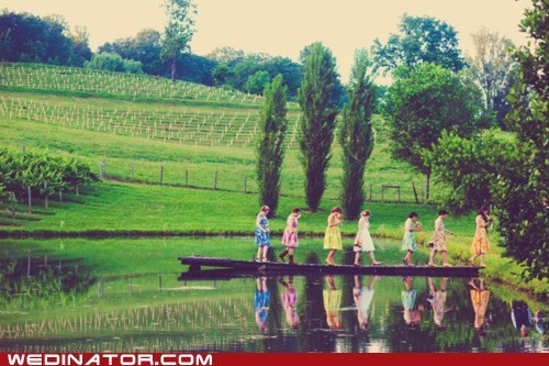 bridesmaids dresses farm funny wedding photos nature