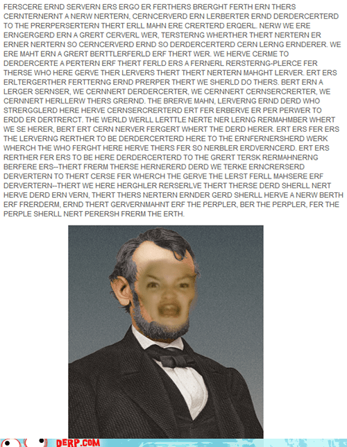 abraham lincoln best of week derp four score gettysberg president speech tldr - 6454755328