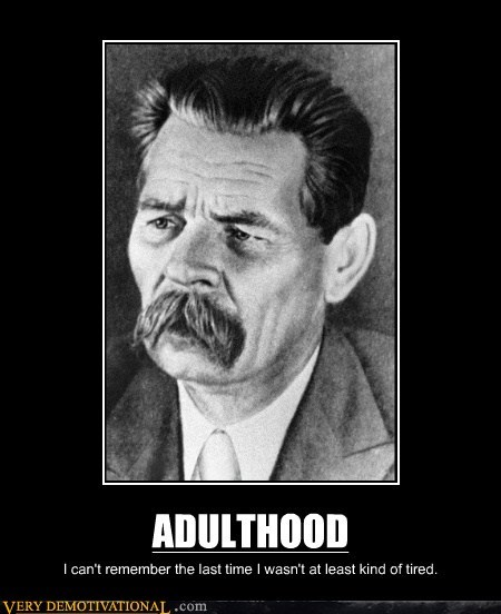 mustache tired adulthood - 6455242496