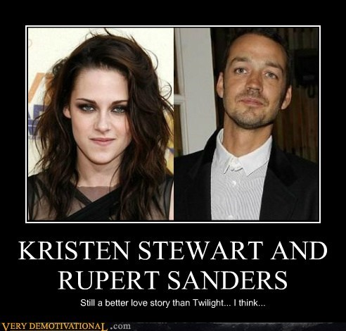 KRISTEN STEWART AND RUPERT SANDERS Still a better love story than Twilight... I think...
