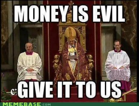 church Memes money religion