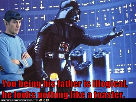 darth vader,Father,illogical,Leonard Nimoy,Spock,Star Trek,star wars,toaster