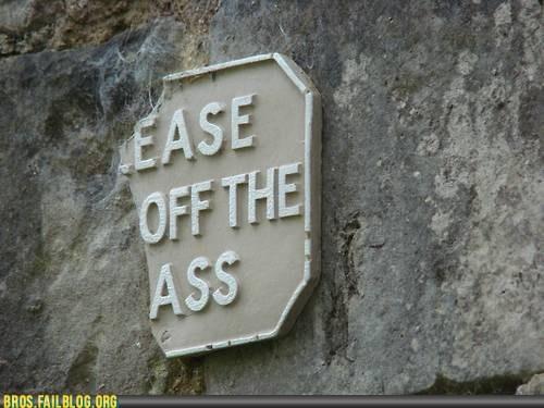 ass bros butt buttsecks please keep off the grass sign - 6455616512