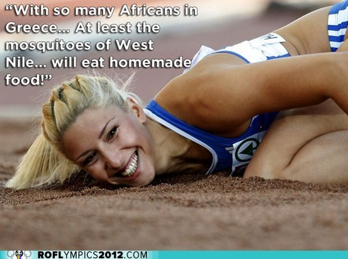 expelled greece kicked out London 2012 olympics Track and Field triple jump twitter