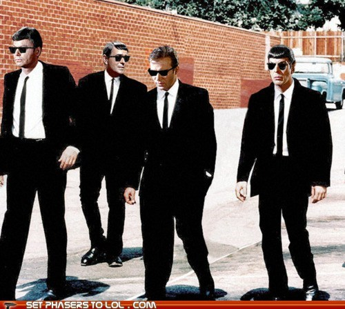 Captain Kirk DeForest Kelley james doohan Leonard Nimoy McCoy poster quentin tarantino Reservoir Dogs scotty Spock Star Trek William Shatner - 6456036608