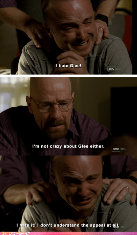 aaron paul,amc,breaking bad,bryan cranston,comic,funny,glee,TV