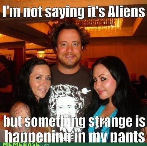 ancient aliens,girls,pants,saucer