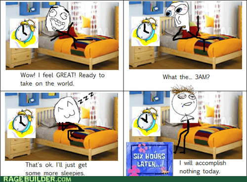 oversleeping Rage Comics sleep waking up - 6456158208