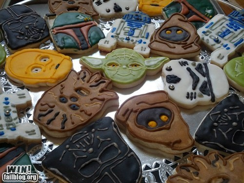 cookies cute food nerdgasm star wars - 6456312064