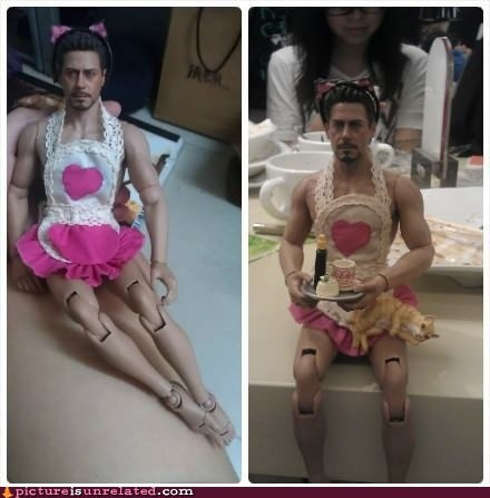 doll iron man maid robert downey jr tea time wtf - 6456316416