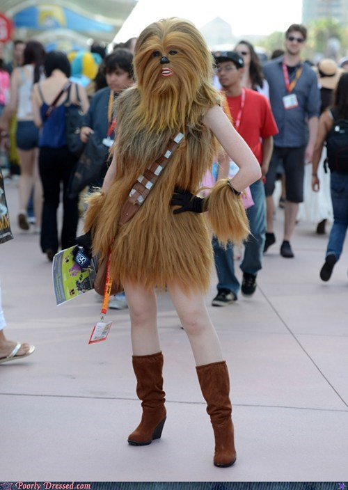 chewbacca,cosplay,lady bits