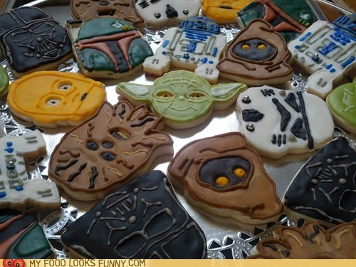 characters,cookies,icing,star wars