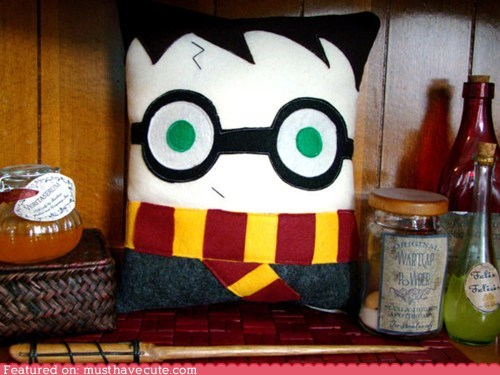 felt handmade Harry Potter Pillow Plush - 6456333056
