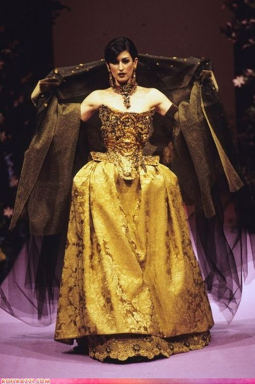 christian lacroix funny celebrity pictures gold runway - 6456353024
