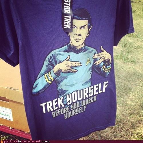 best of week check yourself gangsta novelty clothes Spock Star Trek wtf - 6456365312