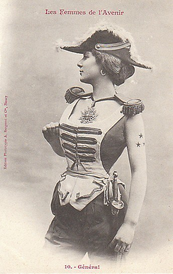 #tbt jobs women of the future 1902 hats french trading cards - 645637