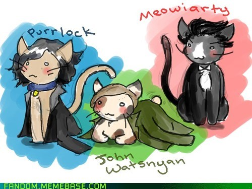bbc Cats cute Fan Art Sherlock - 6456419328