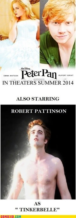 best of week,emma watson,peter pan,robert pattison,rupert grint,sparkles,the internets,tinkerbell