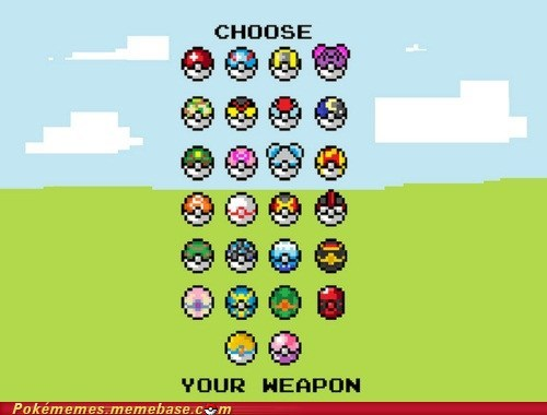 choose your weapon,master ball,pokeball,the internets