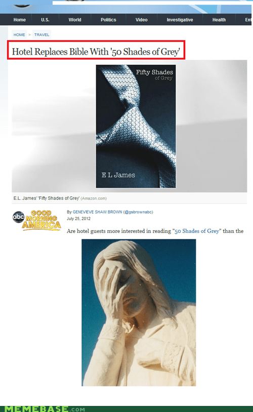 50 shades of grey,bible,hotel california,Memes