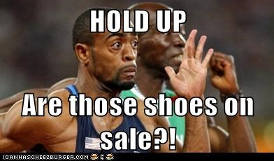 excited,London 2012,olympics,running,sale,shoes,tyson gay