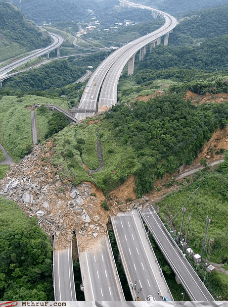 landslide traffic Traffic Jam - 6456651776