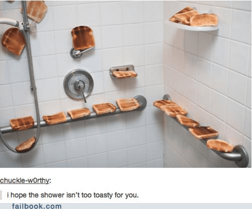 puns,shower,toast,tumblr