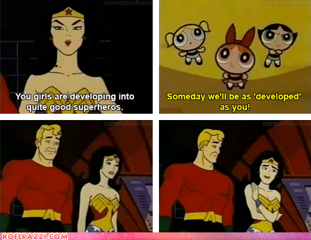animation aquaman comic funny the powerpuff girls TV wonder woman - 6456760064