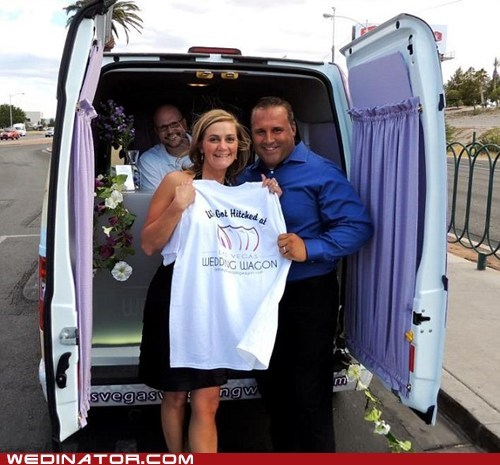 funny wedding photos,las vegas,wedding wagon