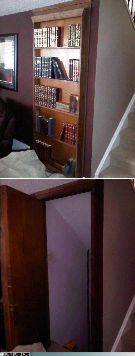 bad bookcase doorway hidden secrets unconvincing - 6456823040