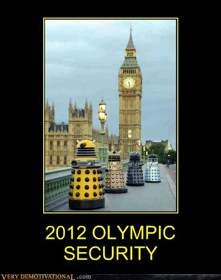 2012 daleks hilarious olympics security