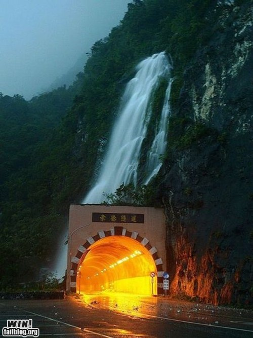 design,driving,road,Travel,tunnel,waterfall,wincation